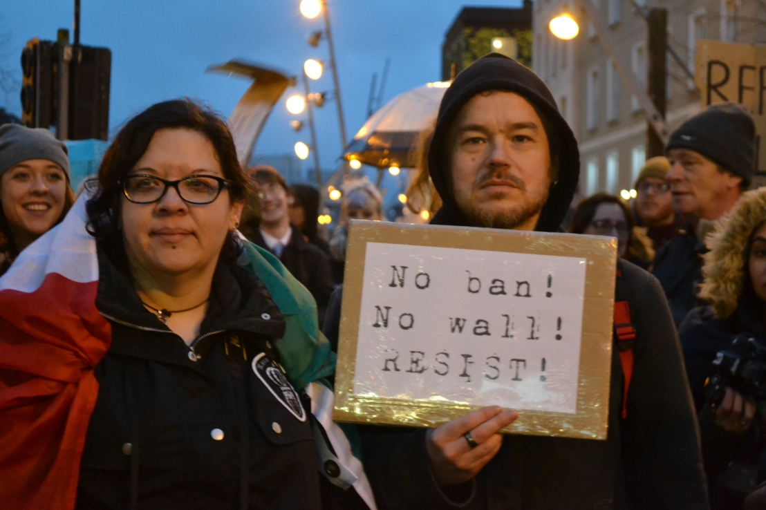 No ban No wall Anti Trump Rally at Cork