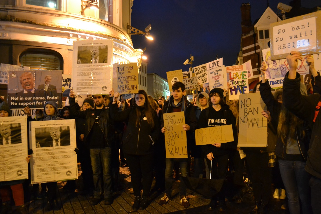 Cork Residents Protesting Trump's Muslim/Travel Ban